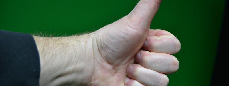 thumbs up for knowledge and approval when executing a will